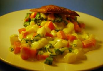 veggies and pot pies