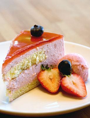 mirror cake slice
